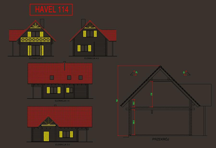 plan domu havel 114