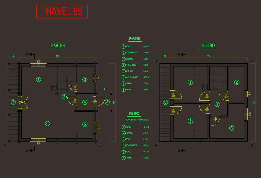 plan domu havel 95